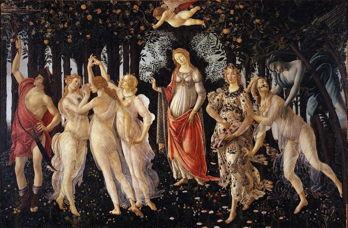 Primavera Painting by Botticelli
