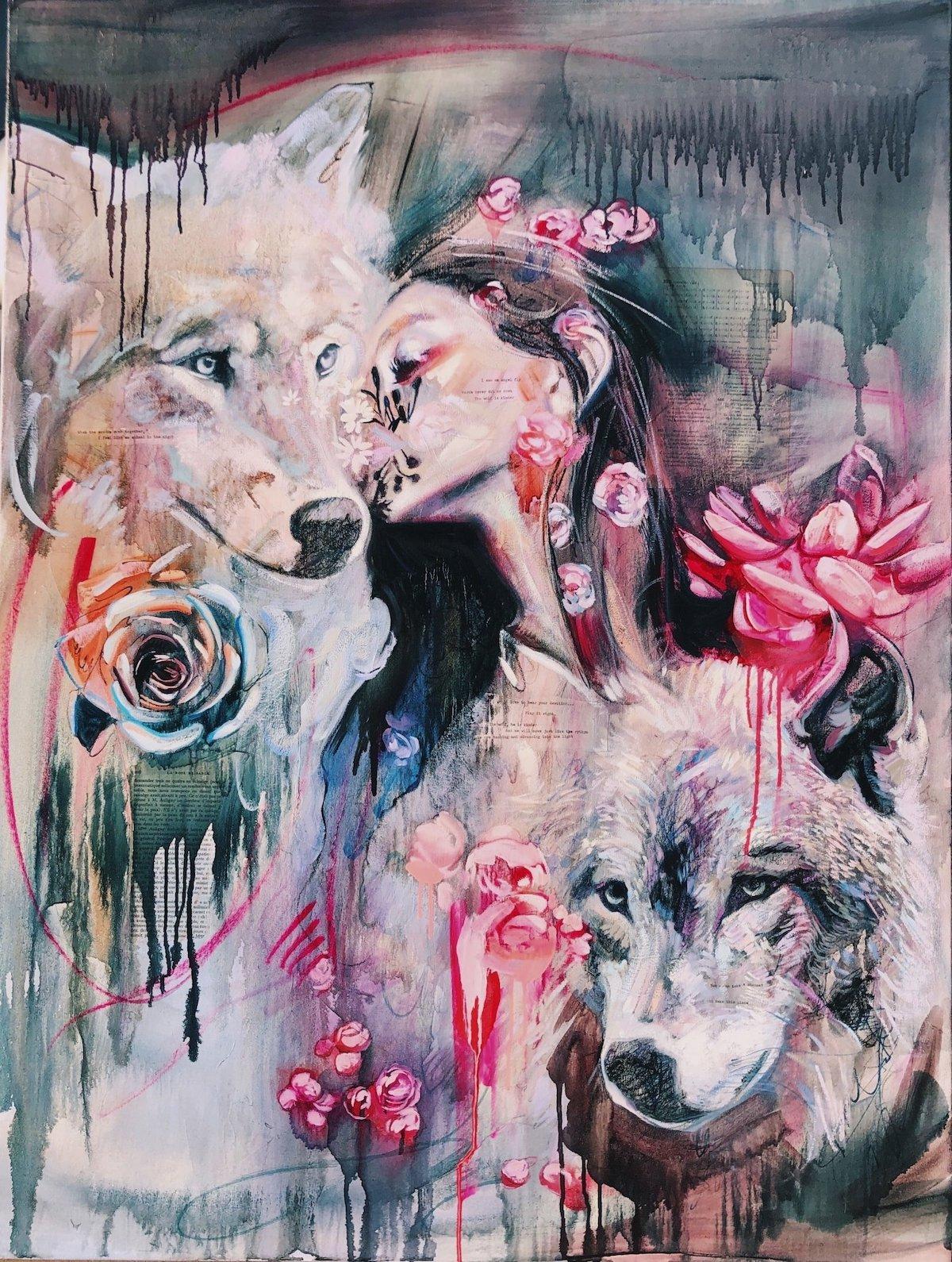 Mixed Media Painting by Dimitra Milan