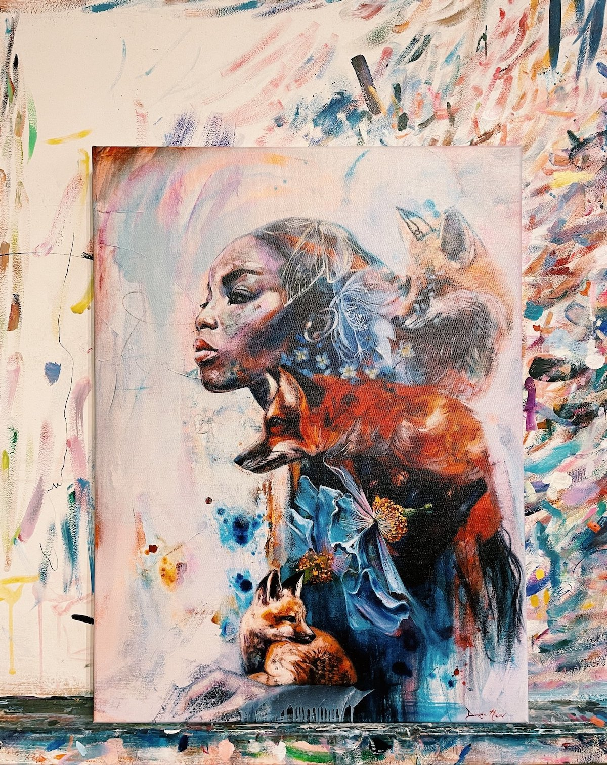 Ethereal Abstract Paintings by Dimitra Milan