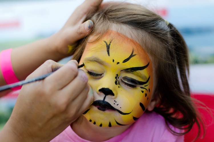 Face Painting on Kids