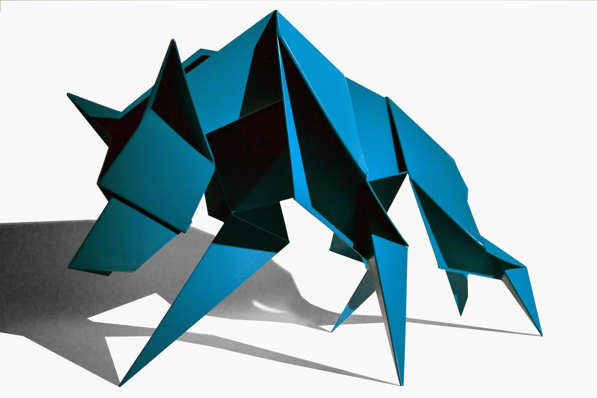 """""""Hacer: Transformations"""" Giant Origami Sculptures in Garment District NYC"""