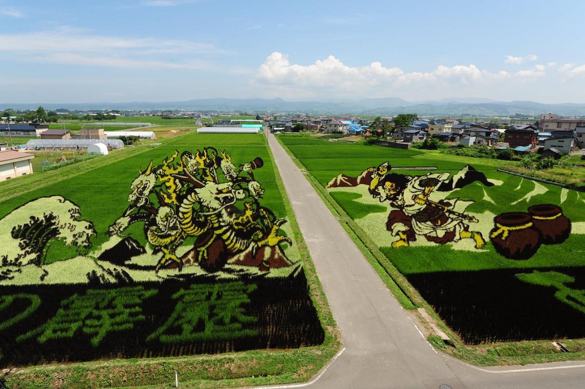 Art de rizière du village d'Inakadate