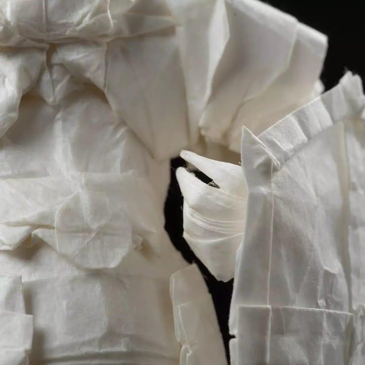 Origami Knight Paper Sculpture by Juho Konkkola