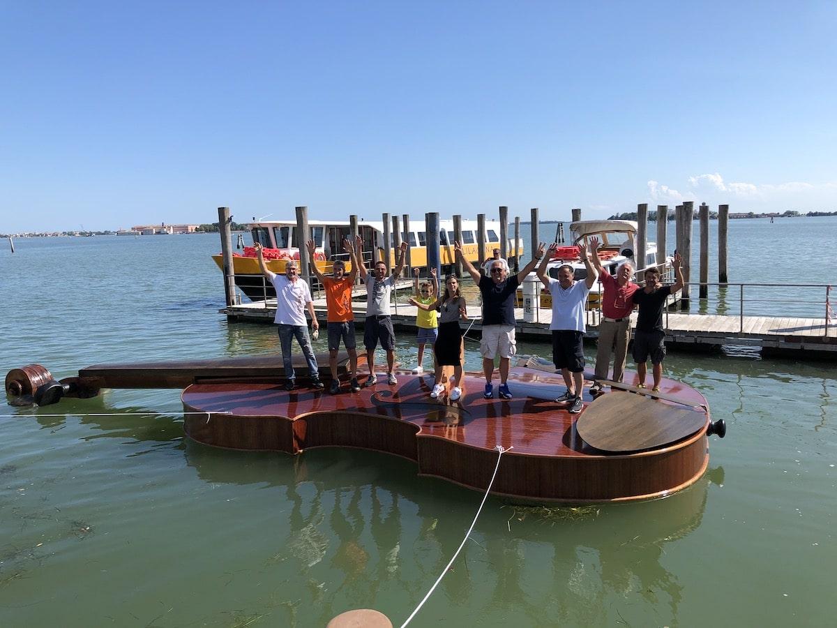 Large Floating Violin in Venice