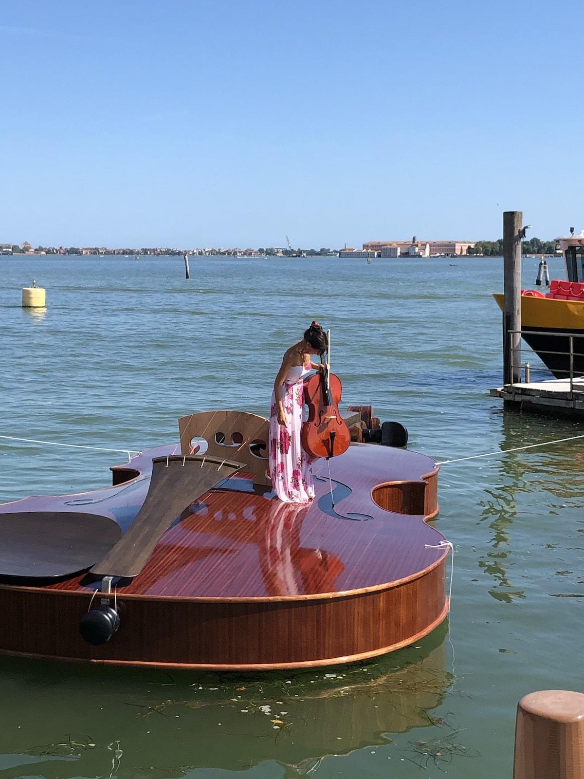 Violin Public Art Installation in Venice