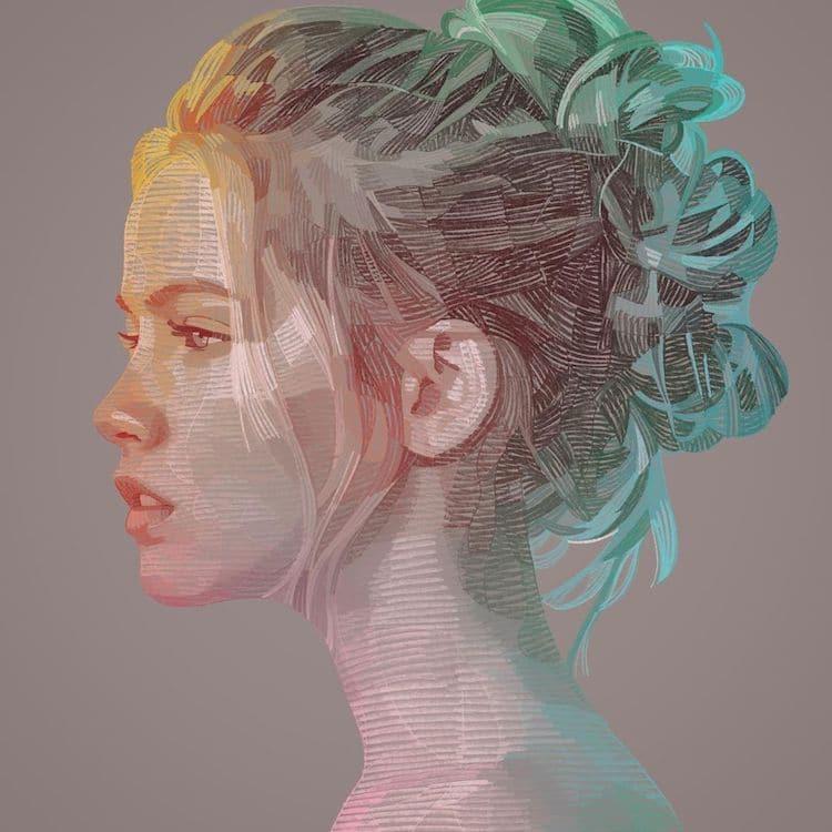 Geometric Portrait by Lui Ferreyra