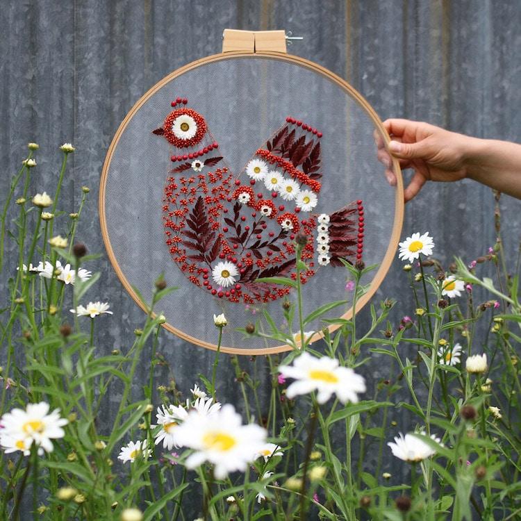 Dried Flower Embroidery by Olga Prinku