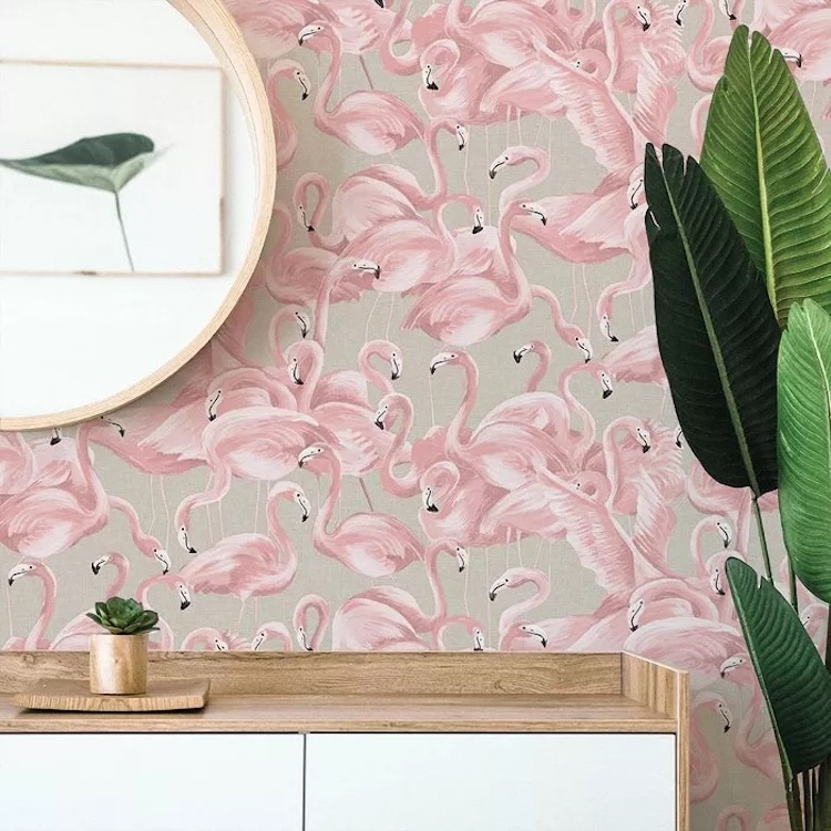 Flamingo Peel and Stick Wallpaper from Target