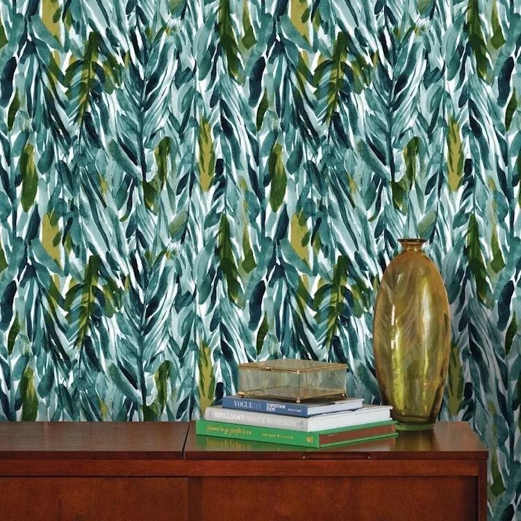 Leaf Print Peel and Stick Wallpaper