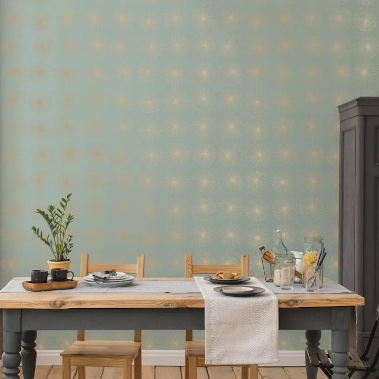 Green and Metallic Gold Self Adhesive Wallpaper from Target