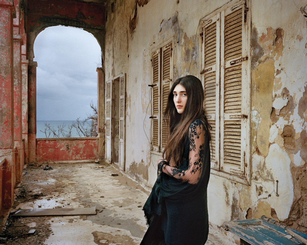 Woman at an Abandoned House in Beirut