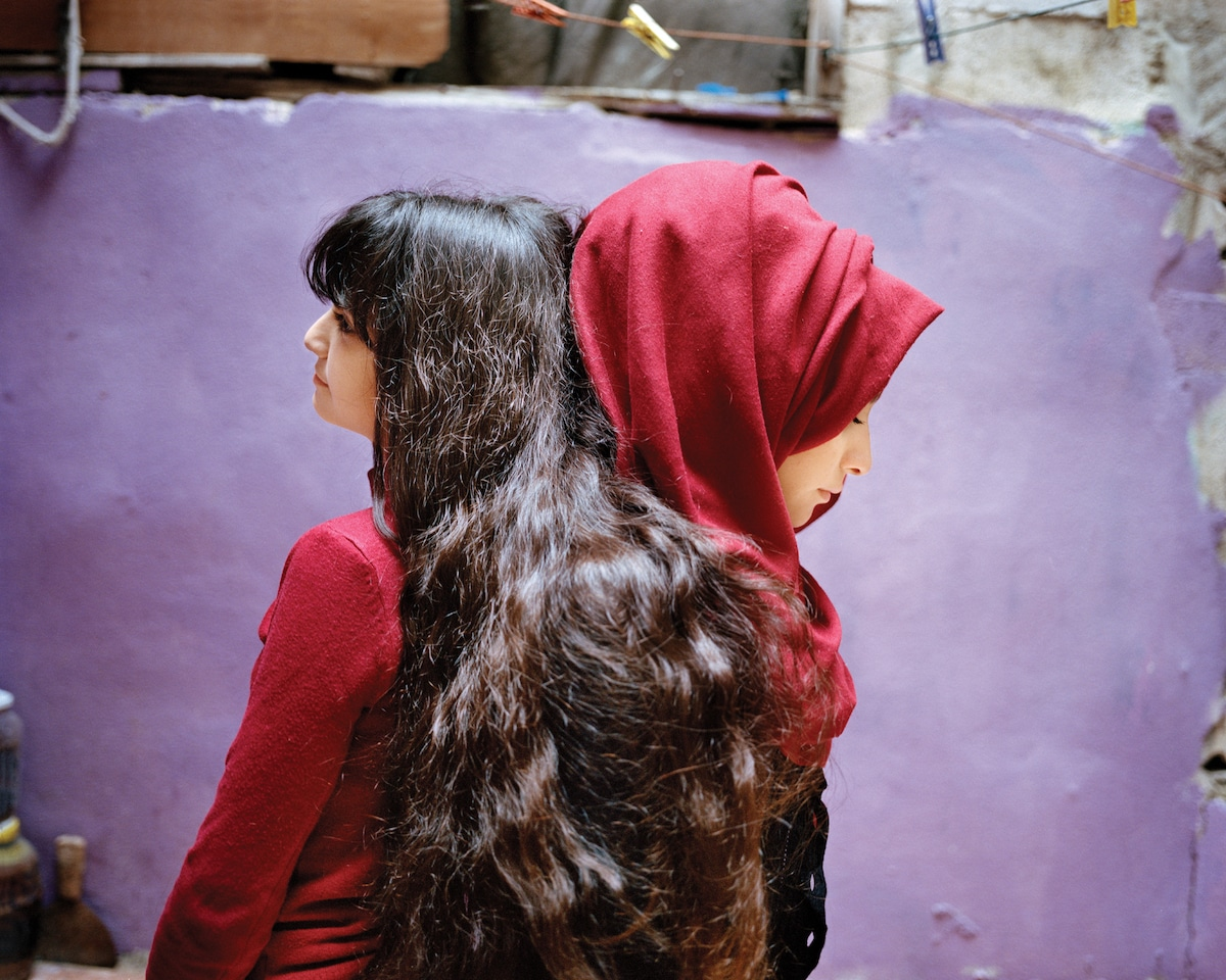 Two Young Women by Rania Matar