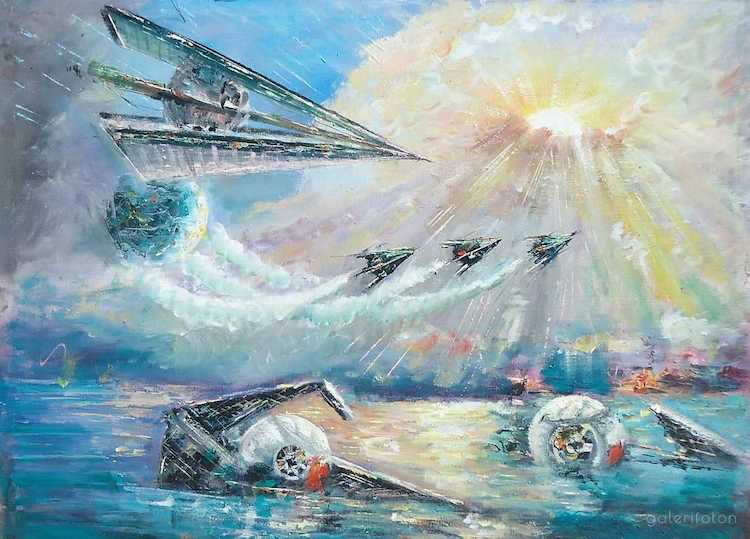 Star Wars Oil Paintings by Naci Caba