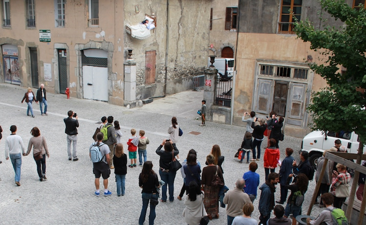 People Watching Performance Art Piece