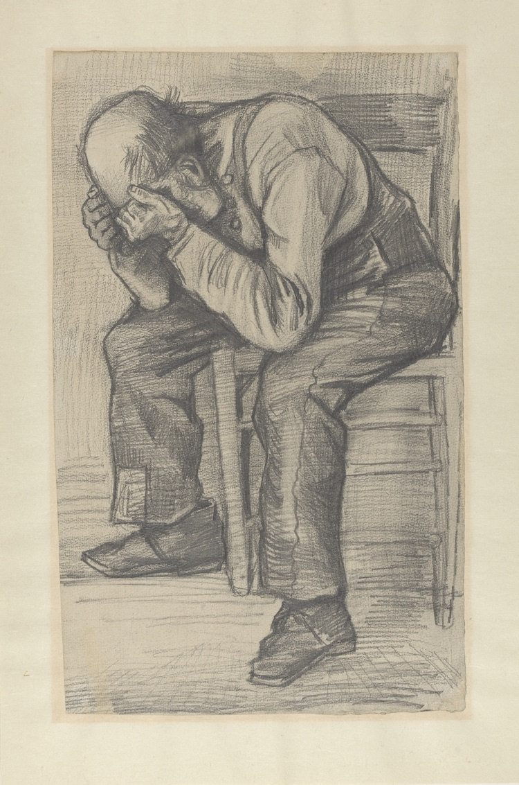 Sketch for Worn Out by Vincent van Gogh