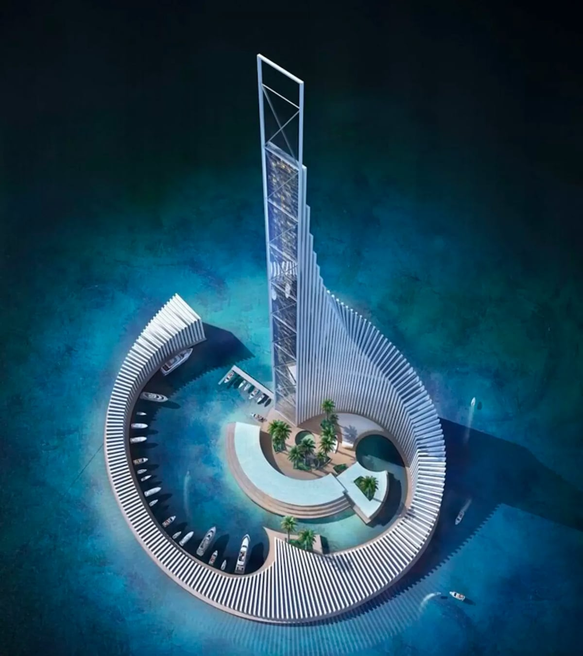 Proposal for the Second Tallest Tower in Africa, Domino Tower, visualized by xCassia