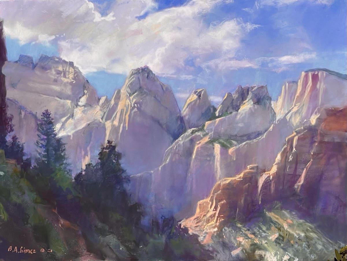 Landscape Painting of Zion National Park