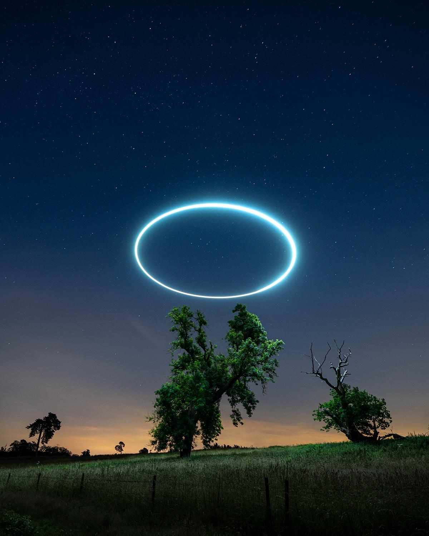 Halo de lumière sur un arbre par Will Ferguson