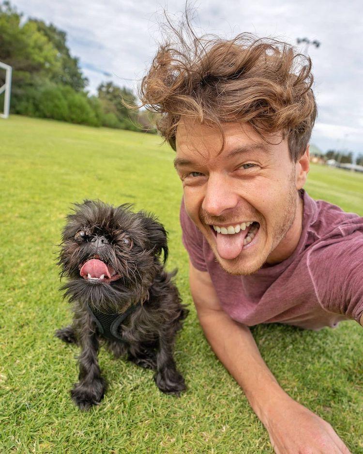 Allan Dixon Animal Selfie With Dog