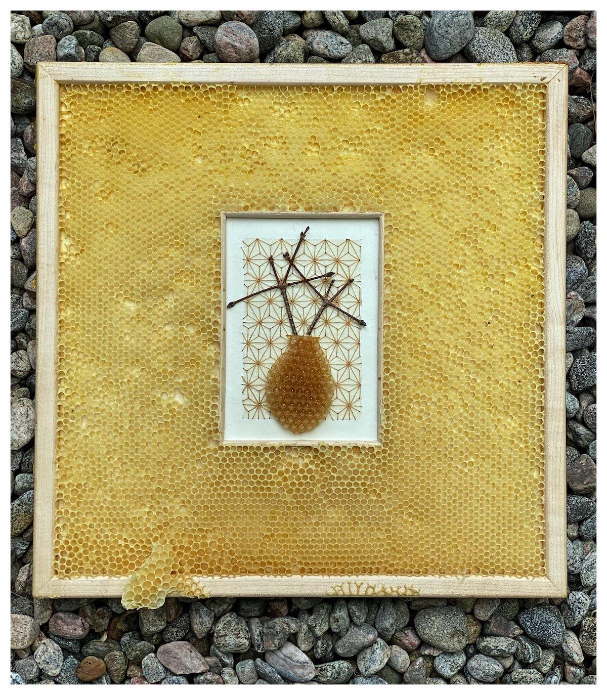 Mixed Media Honeycomb by Ava Roth