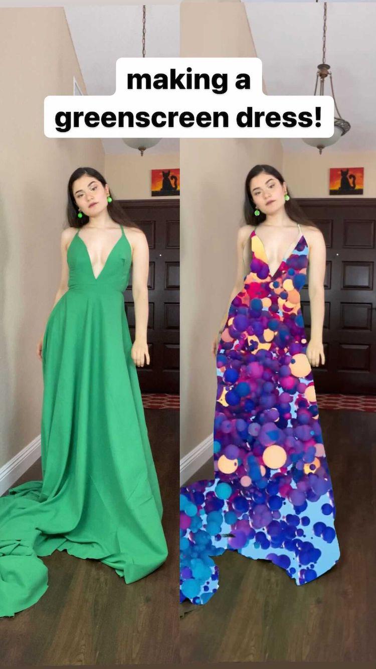 Greenscreen Dress by Shay Rose