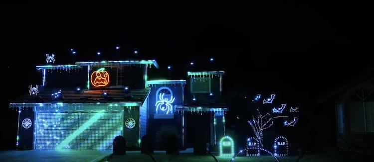 Halloween Light Show by Tom BetGeorge