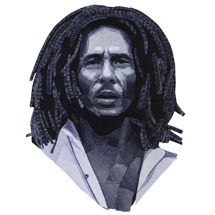 Denim Legends Portrait of Bob Marley