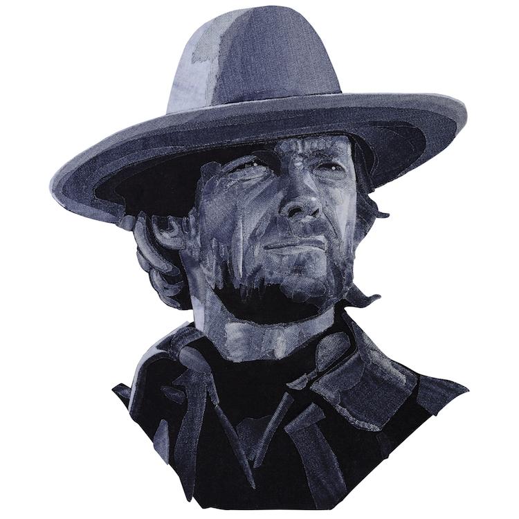 Denim Legends Portrait of Clint Eastwood