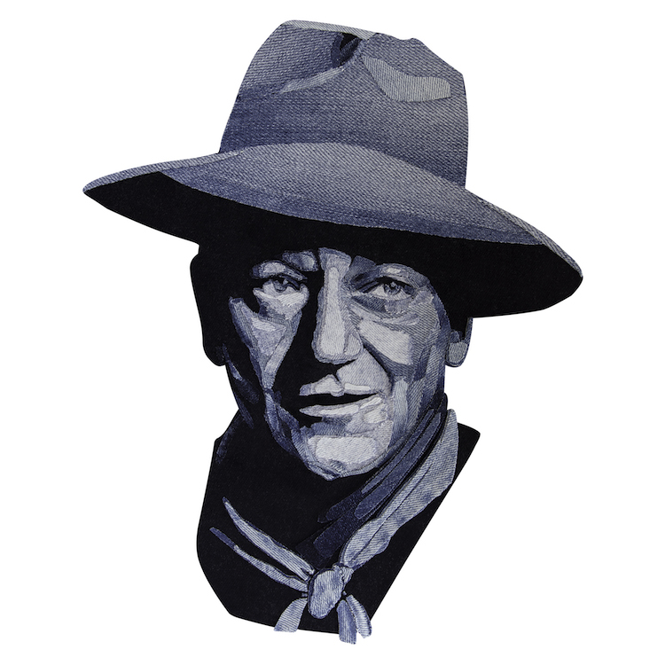Denim Legends Portrait of John Wayne