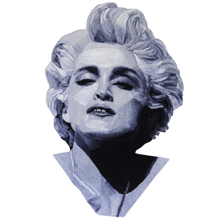 Denim Legends Portrait of Madonna