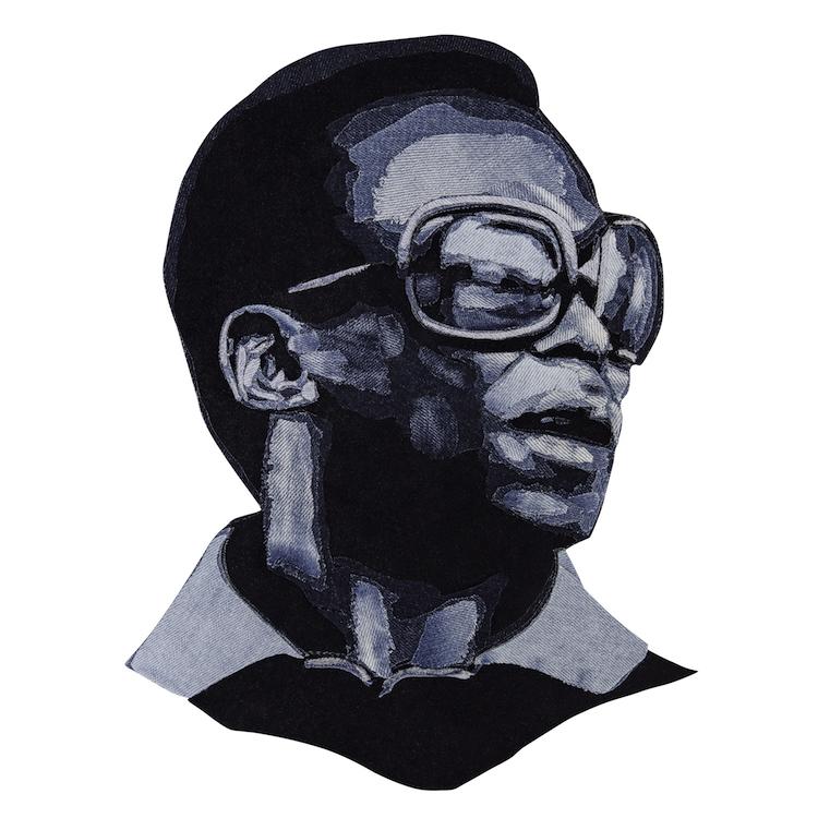Denim Legends Portrait of Miles Davis