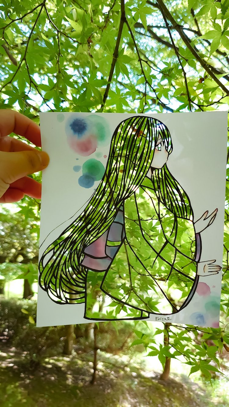 Kirie Nature Paper Art by Erica