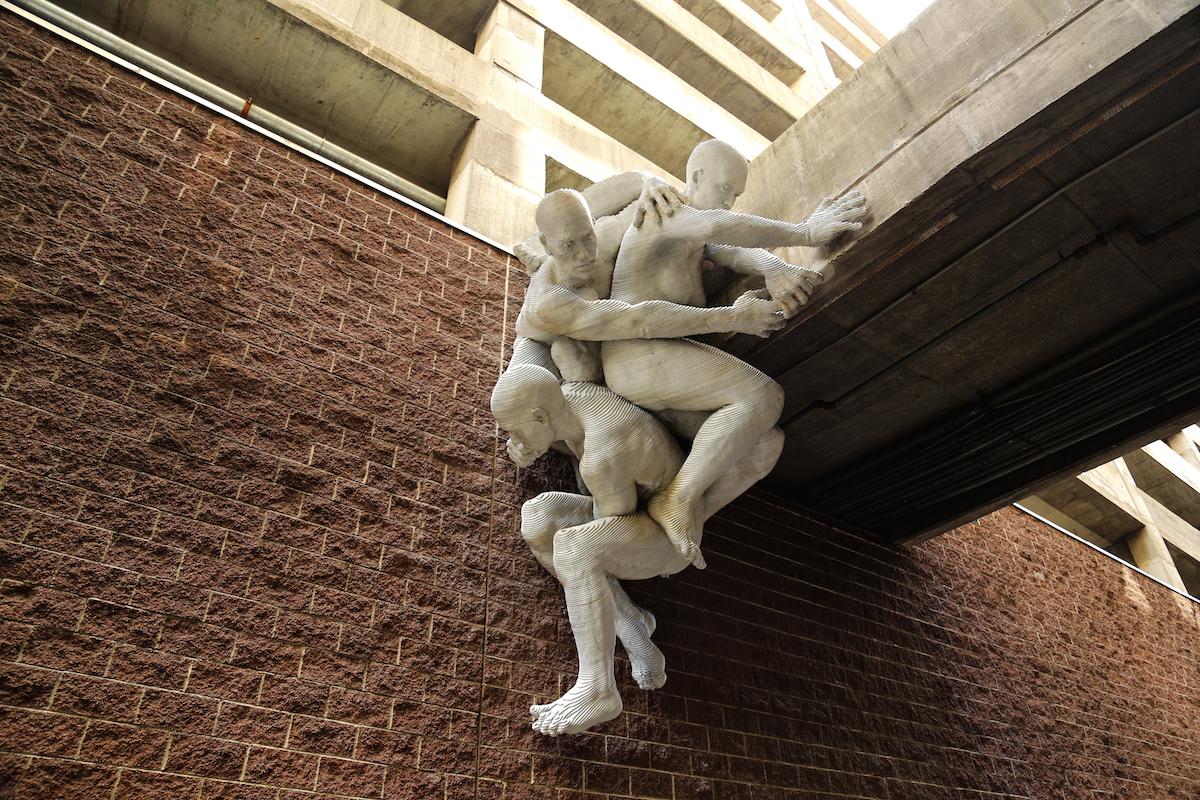 Sculpture of Entangled People in Philadelphia