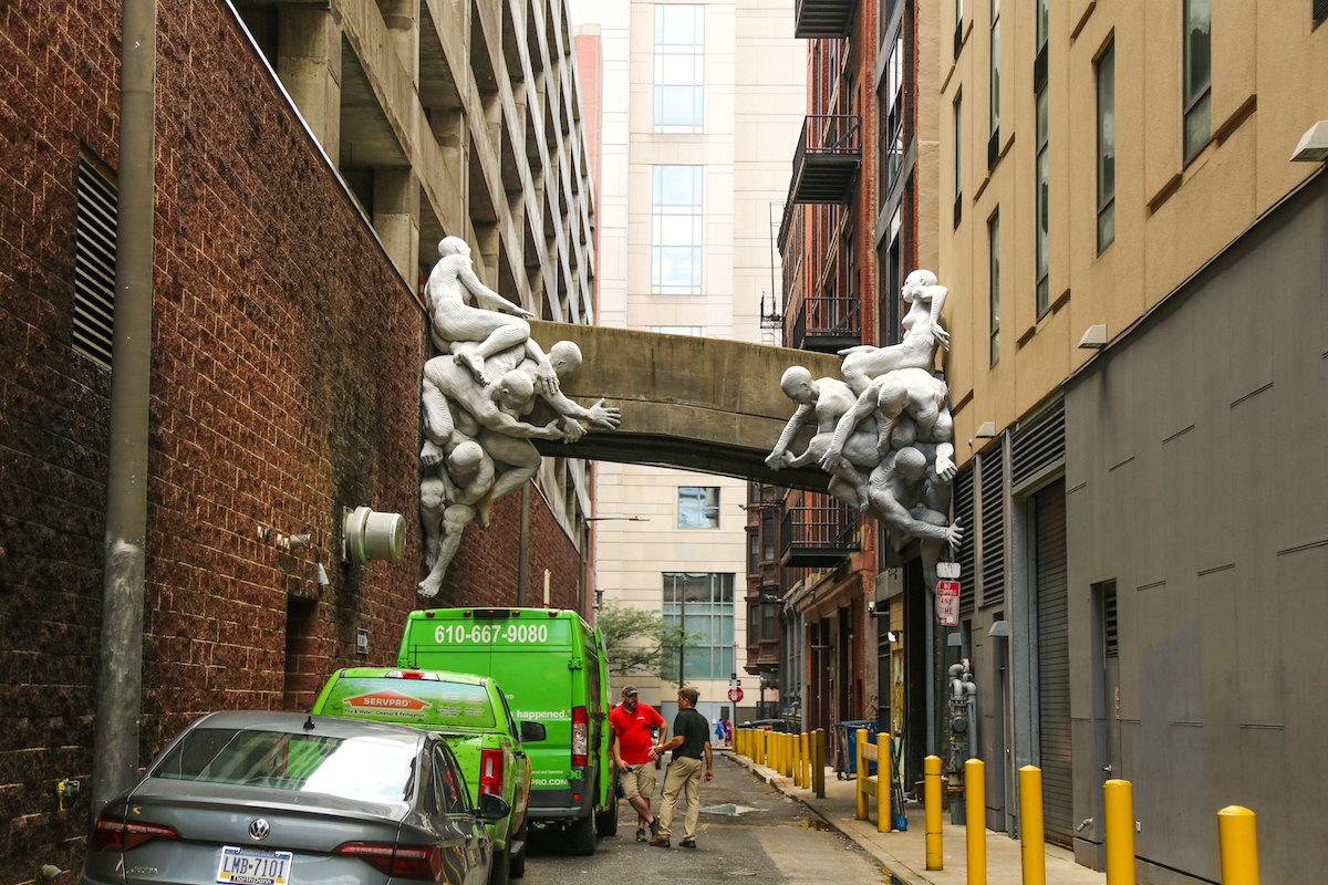 ContraFuerte Sculpture in Philadelphia by Miguel Antonio Horn