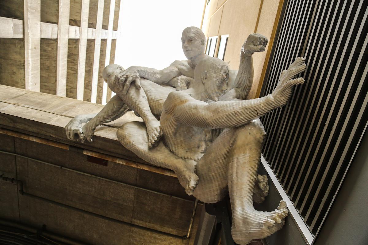 Twisting People Sculpture in Philadelphia
