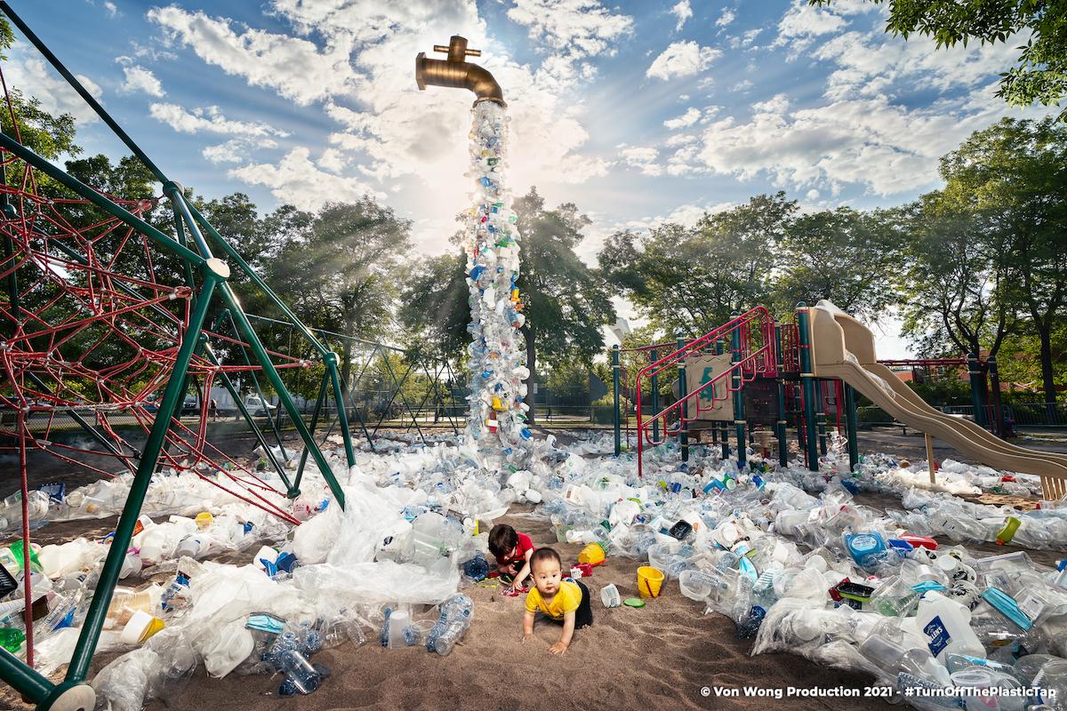Benjamin Von Wong Plastic Waste Art