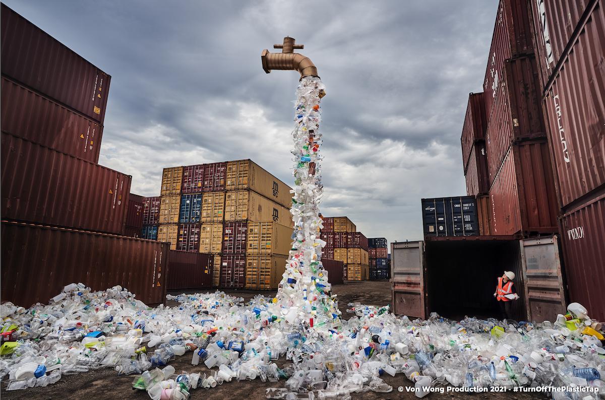 Plastic Waste Art