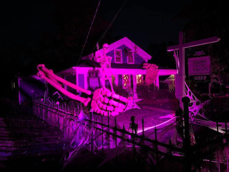Skeleton Halloween House by Alan Perkins