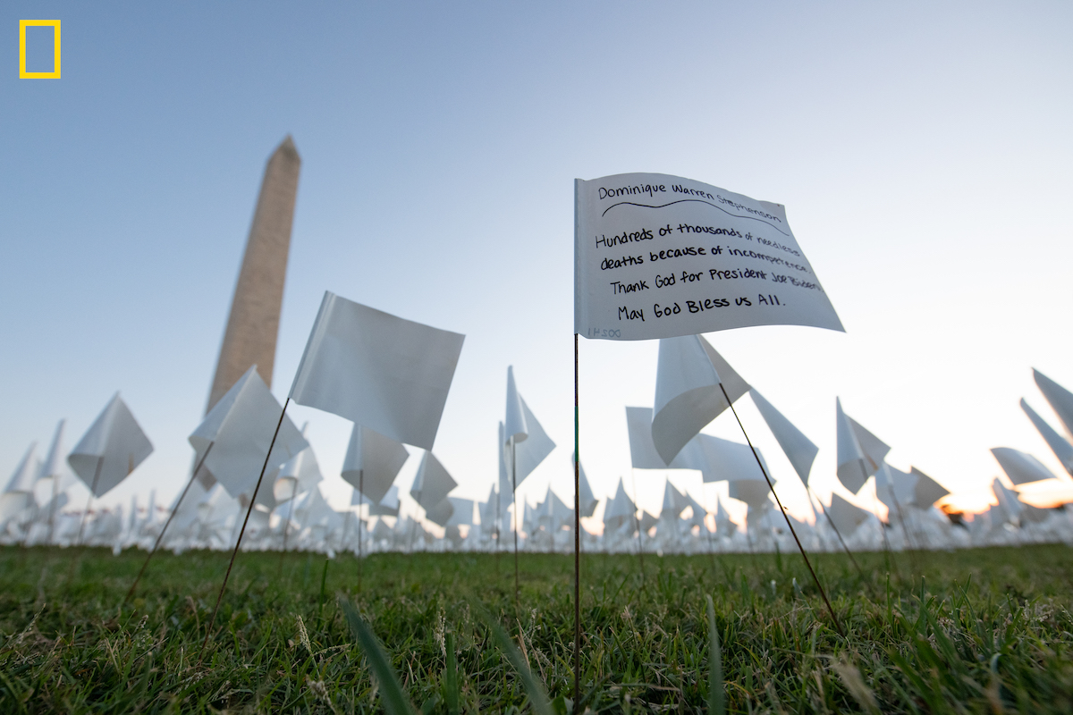 Stephen Wilkes at the In America Covid Memorial at the National Mall
