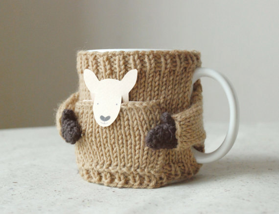 Mug Sweater Knitting Pattern : Adorably Tiny Hand-Knitted Sweaters Outfit Everyday Coffee Mugs