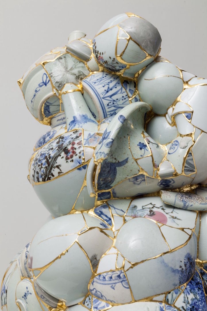 Artist Gives New Life To Shattered Porcelain Fragments By