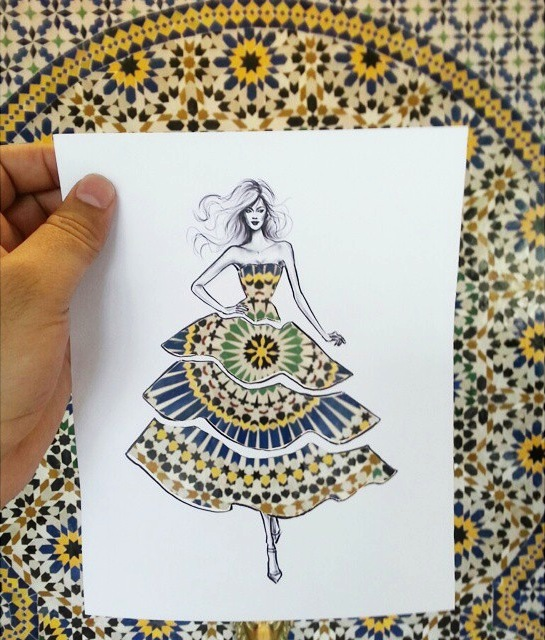 Drawings Of Clothes Designs | Illustrator S Ingenious Cut Outs Turn Any Landscape Into Clever