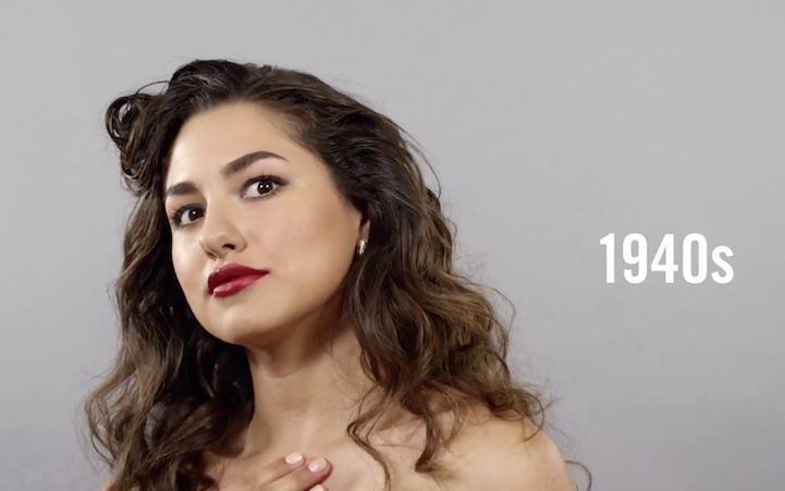 Changing Beauty, Hairstyles, And Makeup Over 100 Years In