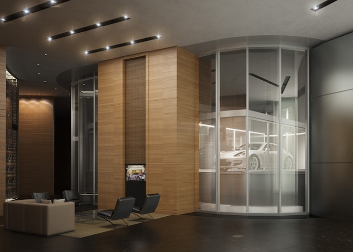 Porsche Design Tower Has A Car Elevator For Billionaires