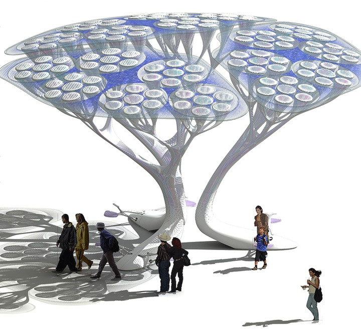 Cool Concept: CO2 To O2 Converting Trees (4 Pics