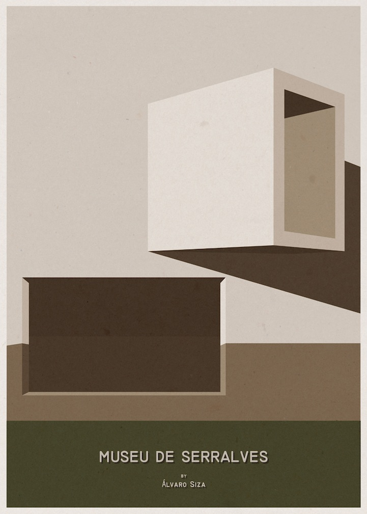 Minimalist architecture posters by andre chiote for Architecture poste a poste