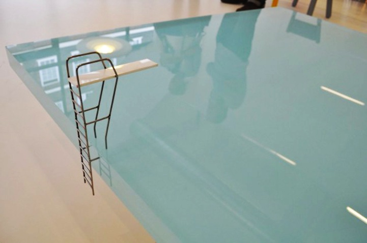 Pool Table is a fun and unexpected pun that turns a game of billiards into  a small body of standing water. Viewers might feel inclined to take a short  swim ...