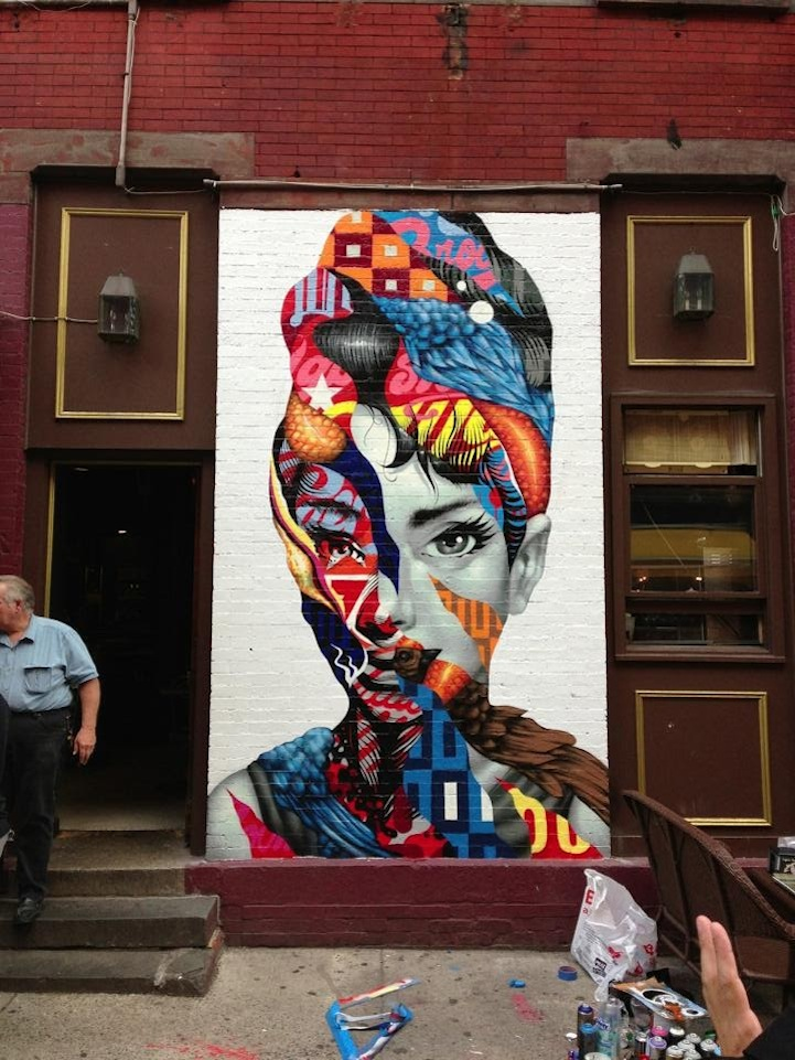 Brooklyn Based Tristan Eaton Recently Created This Eye Catching Mural,  Entitled Audrey Hepburn, Along The Streets Of Little Italy In New York City. Part 71