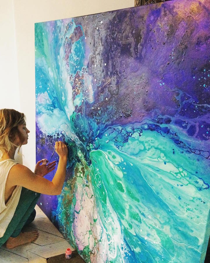 Interview: Ethereal Marbled Paintings Express The Inner