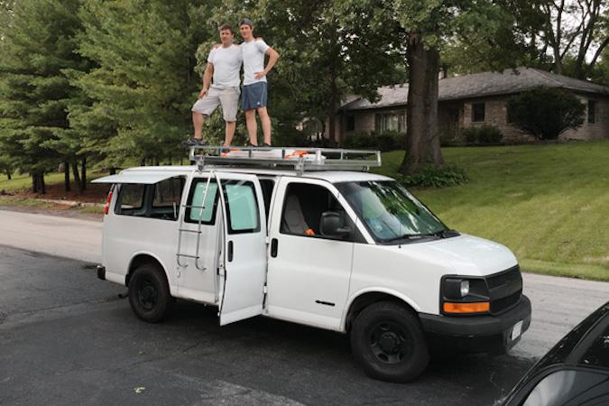 Filmmaker Transforms Rusty Cargo Van Into Sleek Mobile Studio